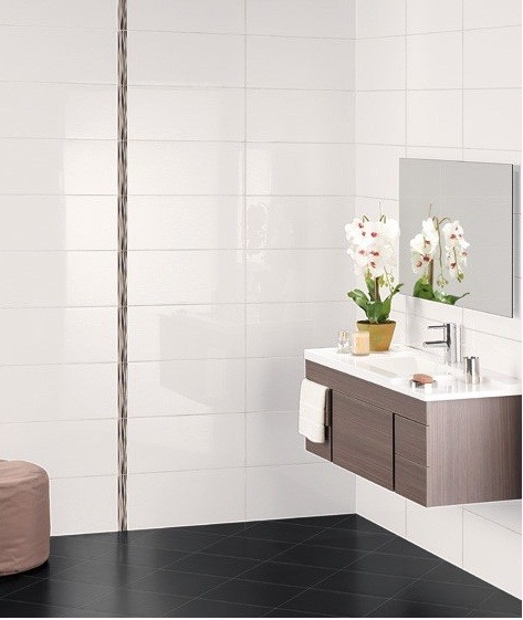 White Bathroom Wall Tiles