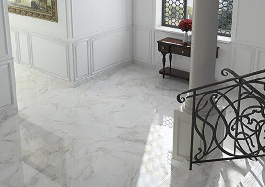 elgin white marble room set