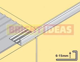 8mm Chrome L Shaped Tile Trim Atlas Ceramics