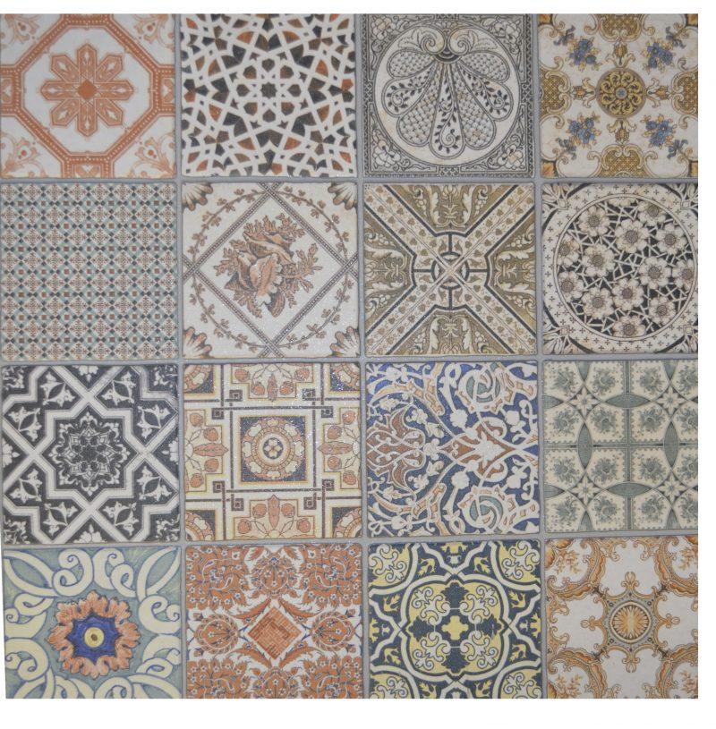 Provenza Deco Stunning Artistic Floor Tile 442mm X 442mm