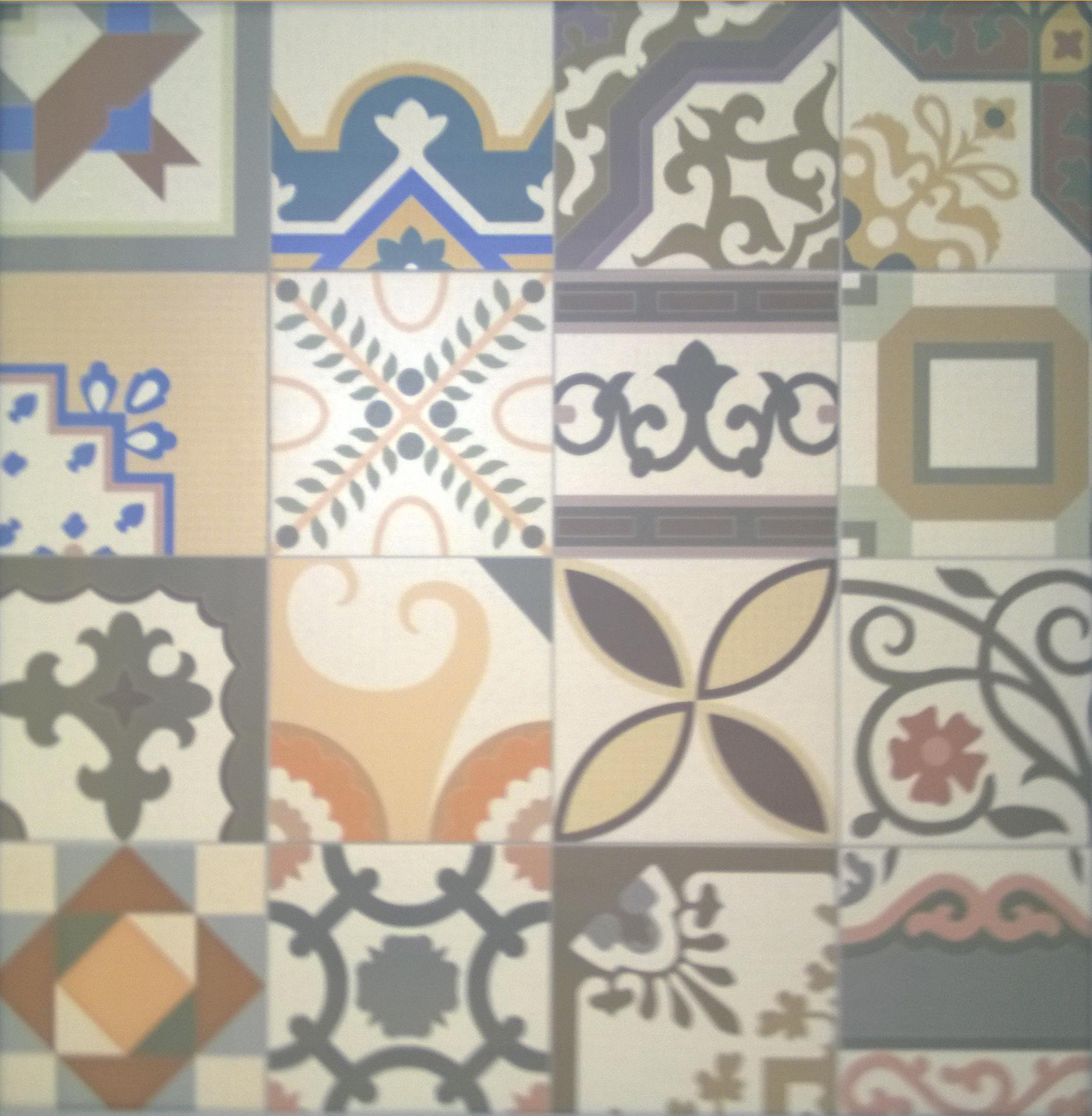 Patchwork deco floor tile 442mm x 442mm atlas ceramics patchwork deco floor tile 442mm x 442mm dailygadgetfo Gallery
