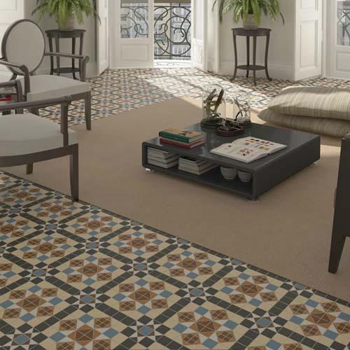 Dorset Marron Victorian Floor Tile Atlas Ceramics