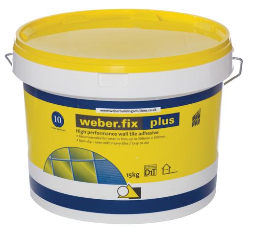 weber fix plus 15kg tile adhesive atlas ceramics. Black Bedroom Furniture Sets. Home Design Ideas