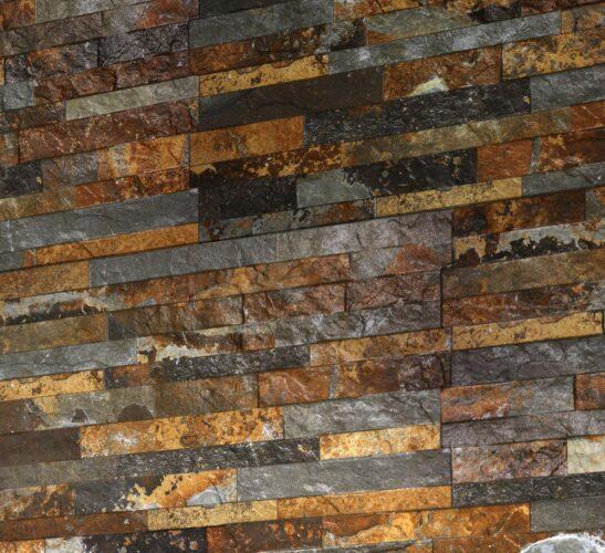 Arun Oxido Rustic Slate Look Multi Colour Textured Wall