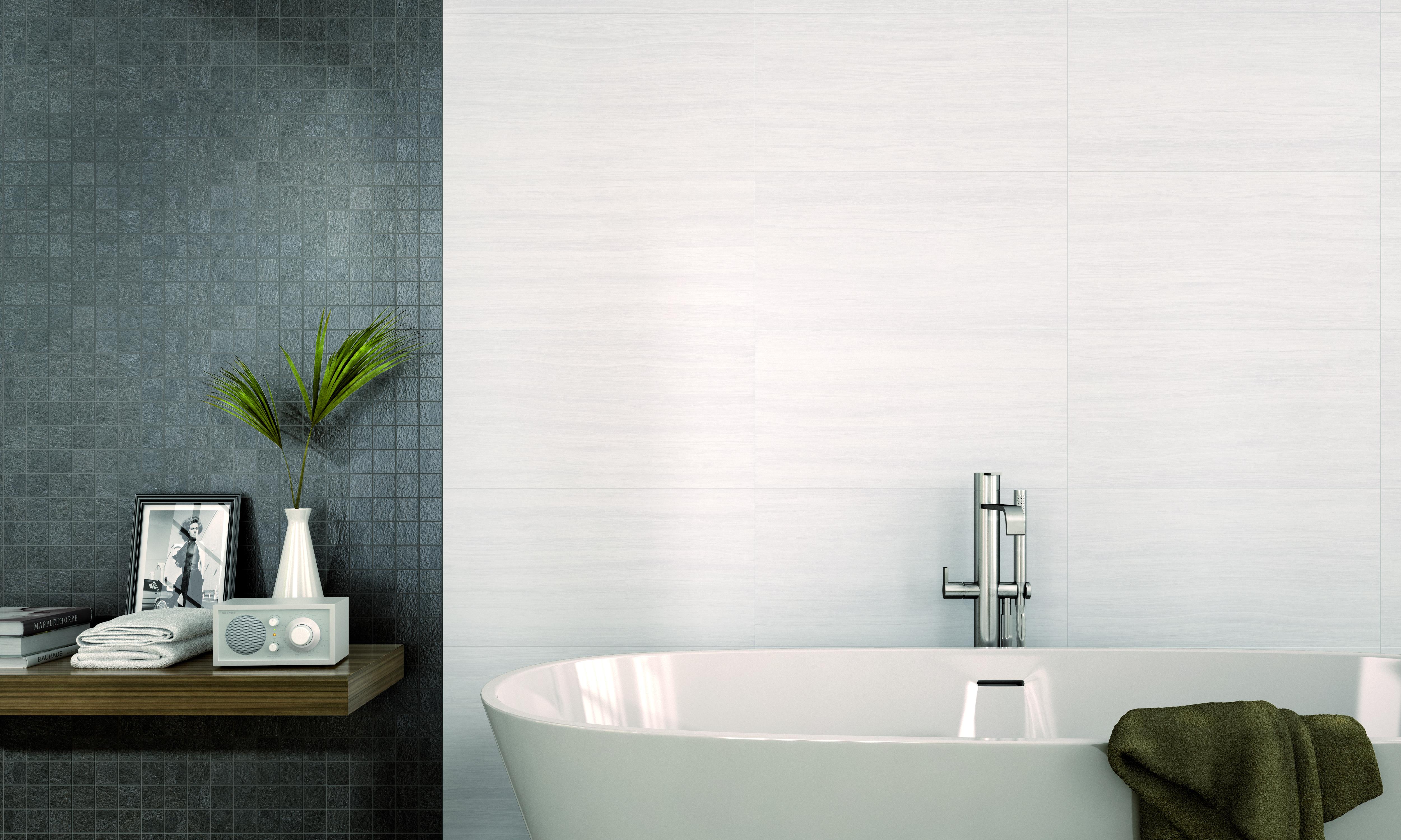 Acacia Blanco 333mm x 650mm - White Bodied Ceramic Wall Tile