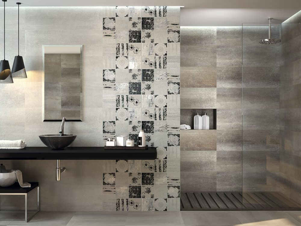 Collage Smoke By Dune Textured Patterned Stone Based Tile