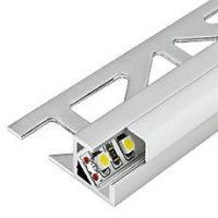 LED complete profile with square cover 11mm
