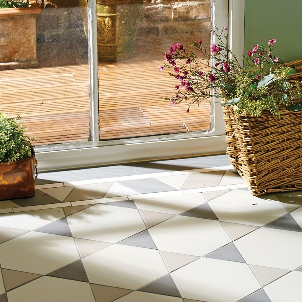 Hexham Shaded Grey Hexagonal Victorian Inspired Tile Pattern
