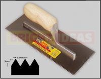 Ecomony 3mm V Notched Trowel