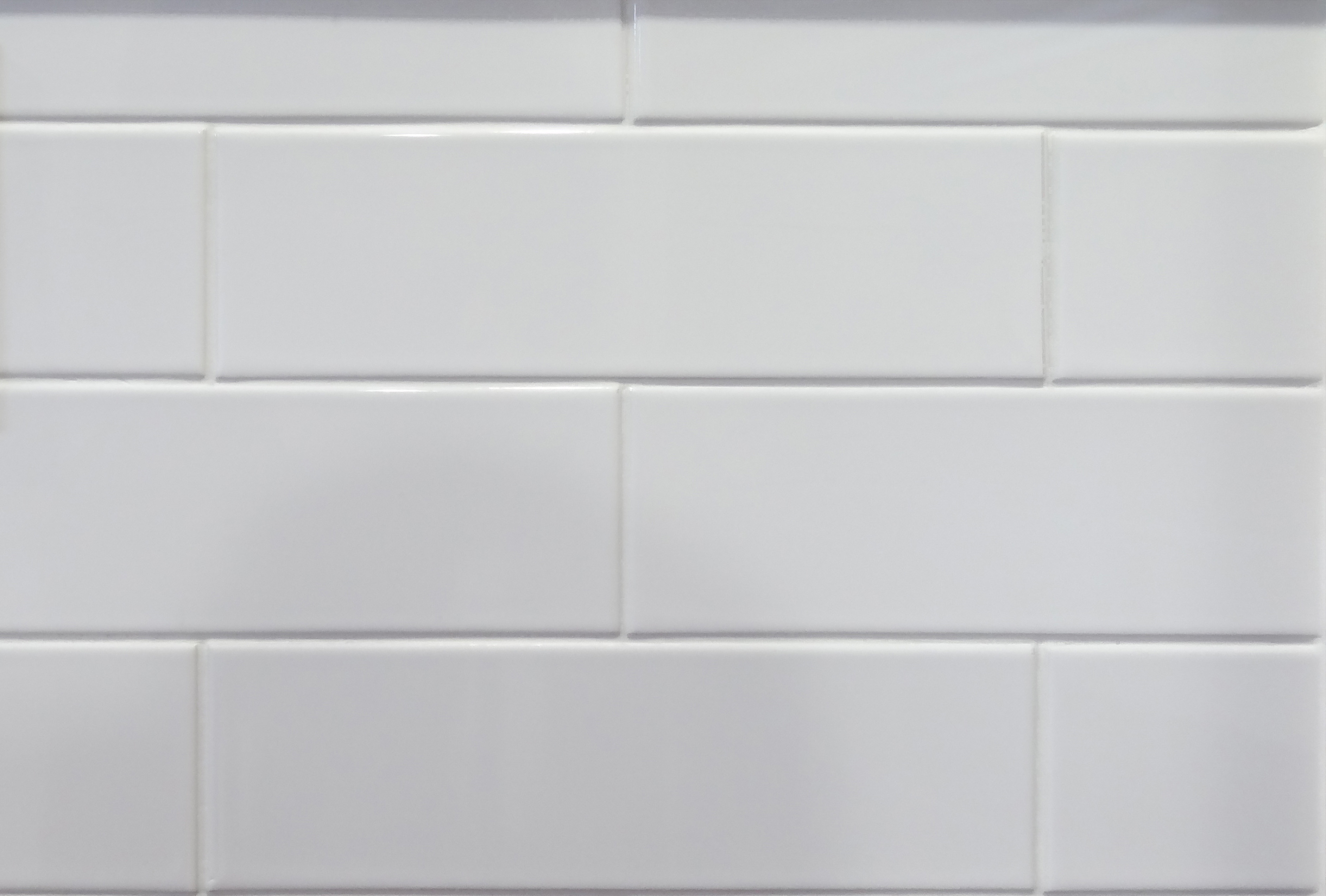 Pastel Gloss White Rectangular Modern Tile 100mm X 330mm