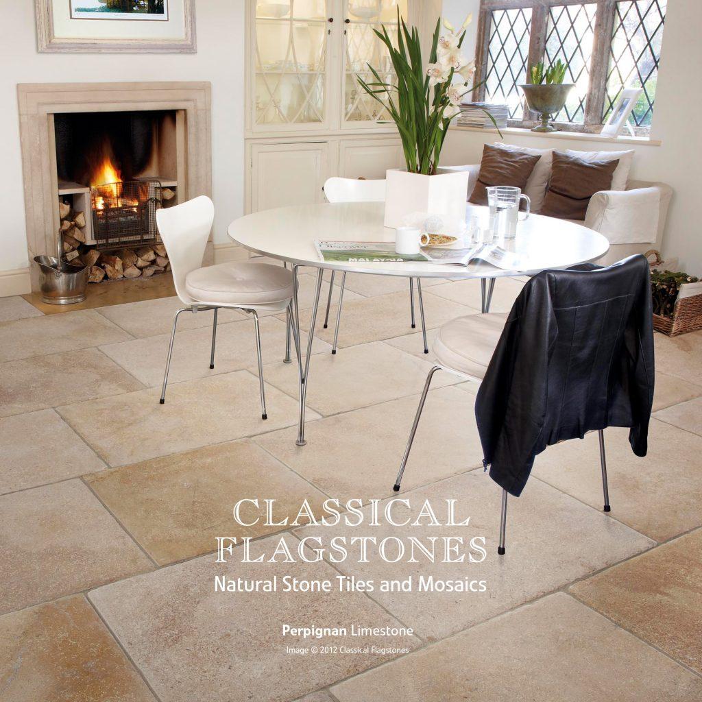 Perpignan tumbled limestone tile