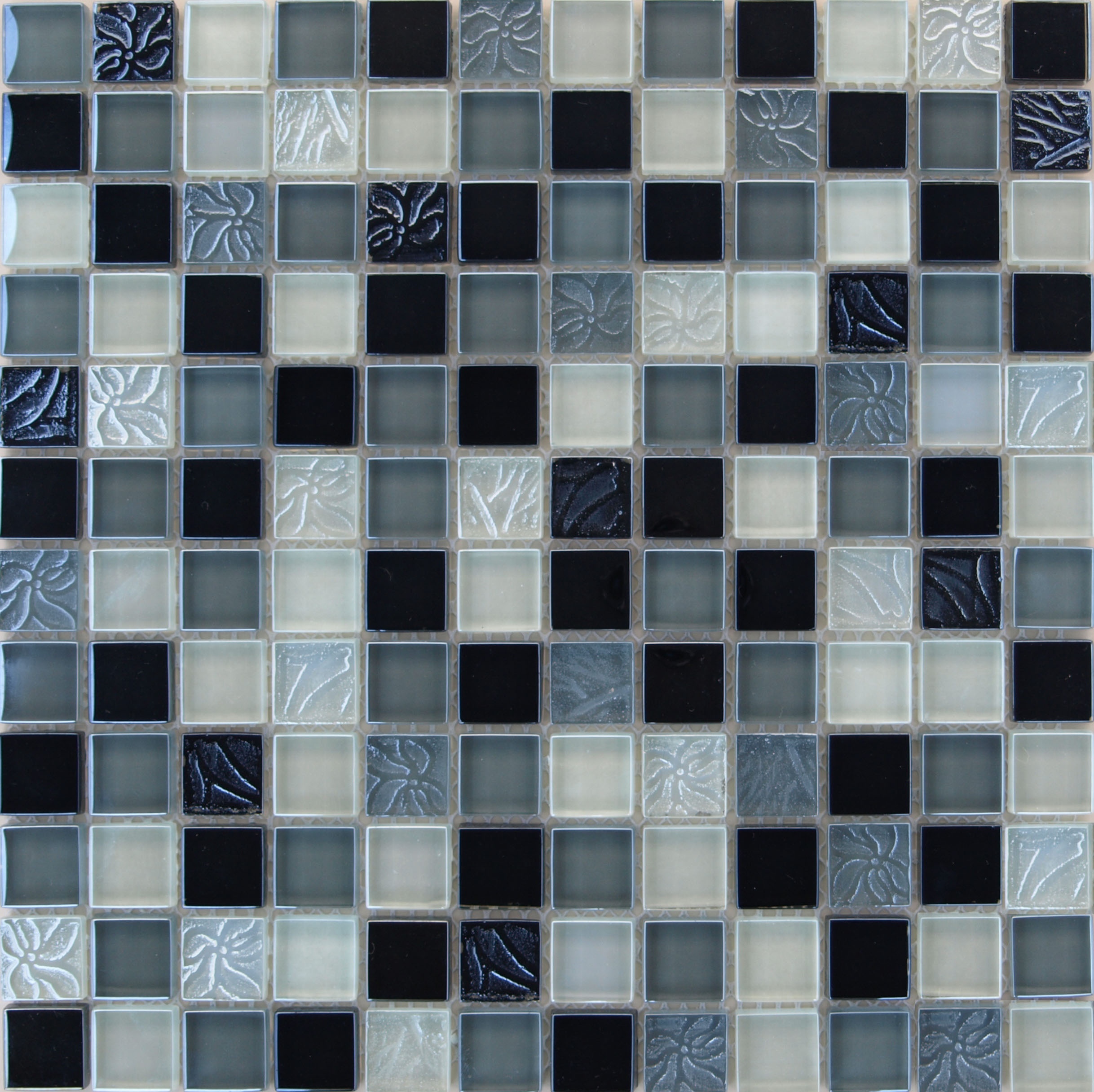 Living Graphite Mix Grey Black And Blue Stone And Glass