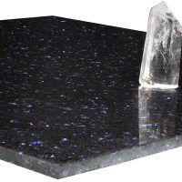 Atlas Stella Quartz Blue on Black 600mm x 600mm