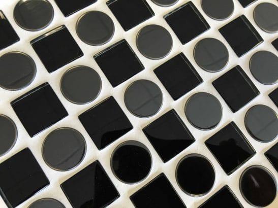 Checkers Black 300mm x 300mm