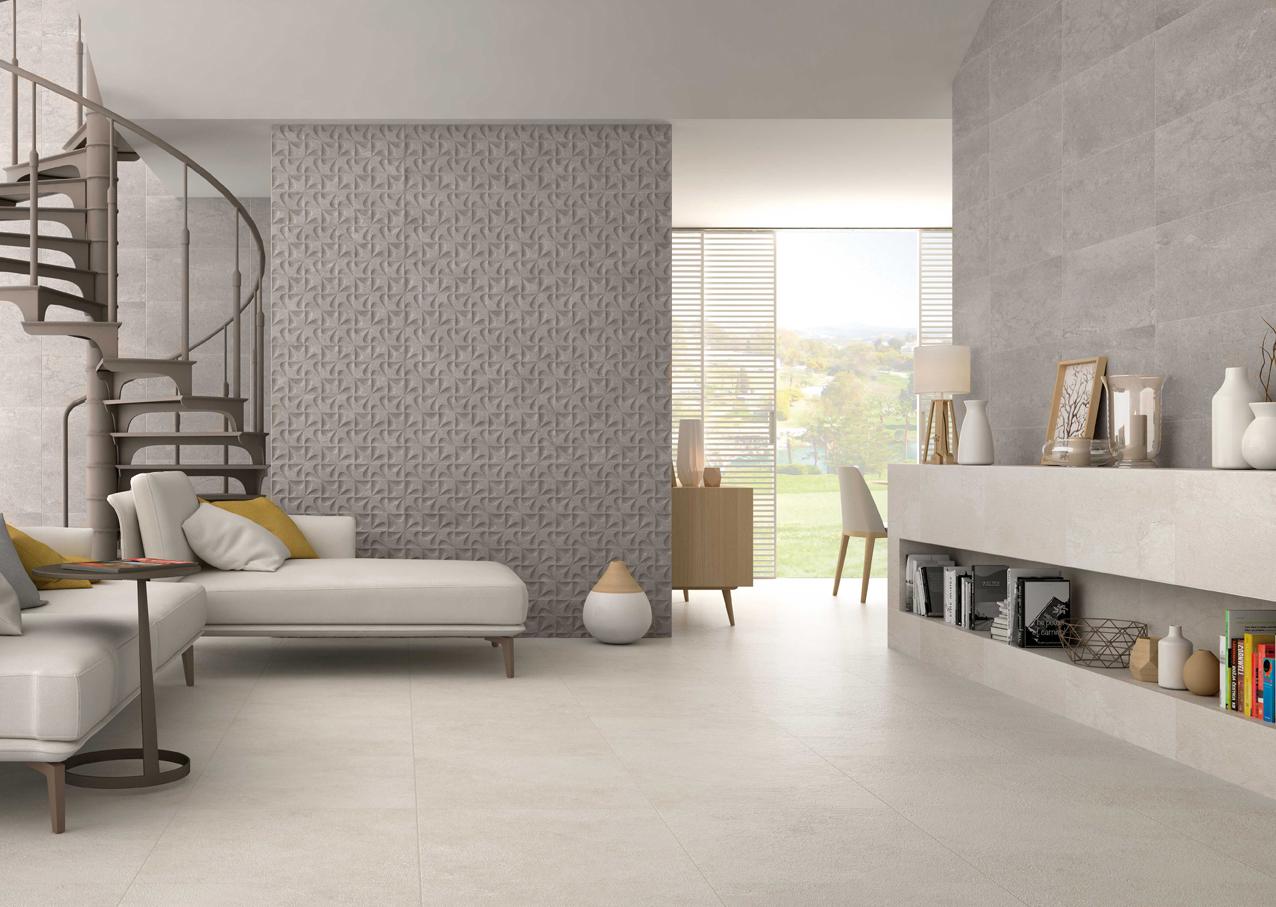 Bellevue Decor Gris Detailed Patterned Porcelain Wall Tile