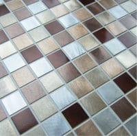 Bronze Square Mosaic 300mm x 300mm
