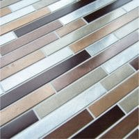 Bronze Brick Mosaic 300mm x 300mm