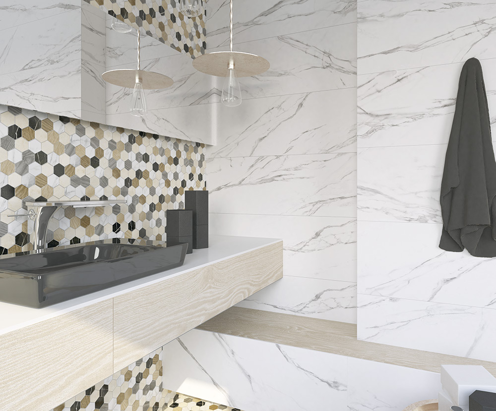 Hampshire wall floor tiles from atlas ceramics bathrooms elgin matt white marble 293mm x 593mm dailygadgetfo Image collections