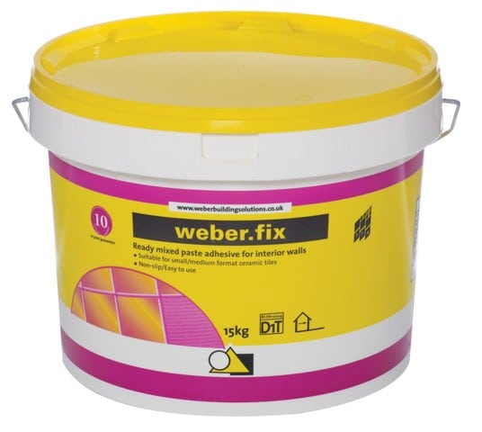 Ready made tile adhesive