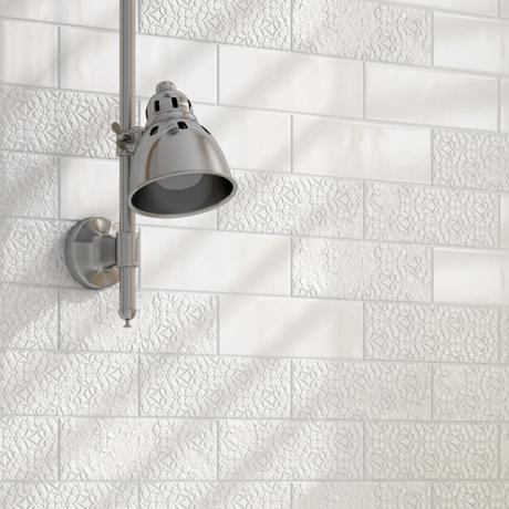 Tinte Blanco Matt Brocade 48mm X 48mm White Decor Kitchen Tile Magnificent Bathroom Tile Calculator Decoration