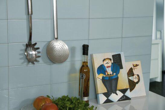 Dorset Duck egg blue wall installation