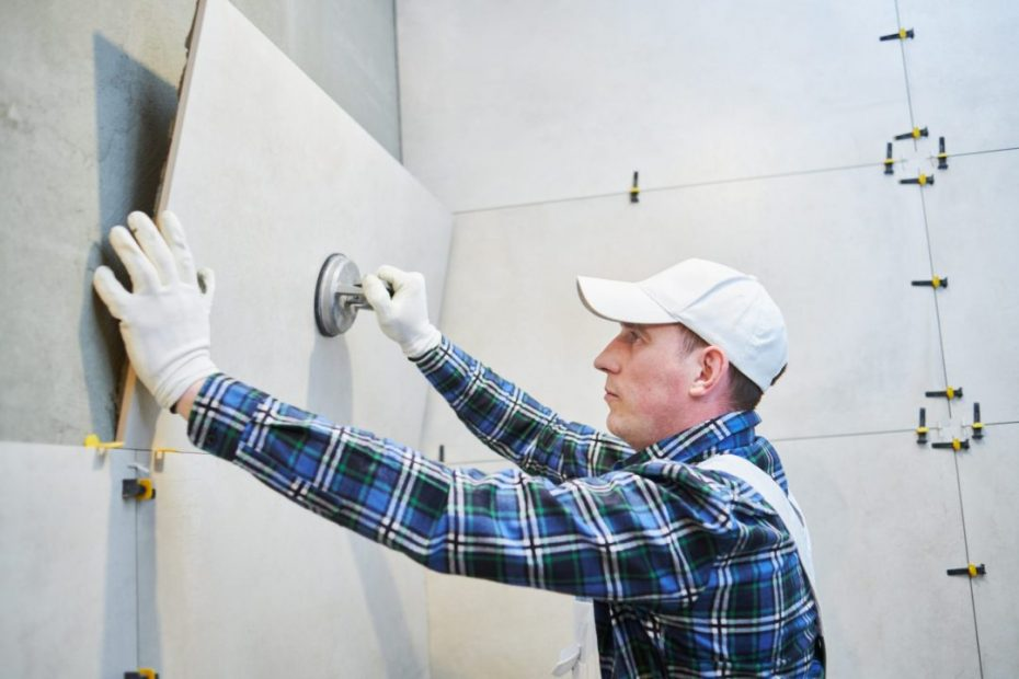 Wall tile installation