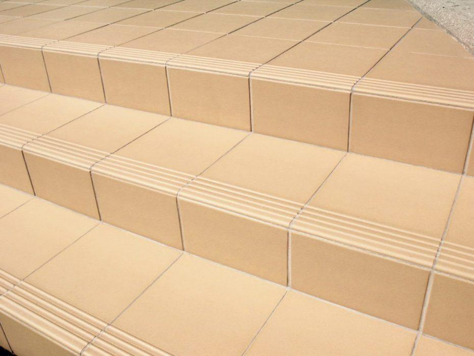 Cream quarry tiles